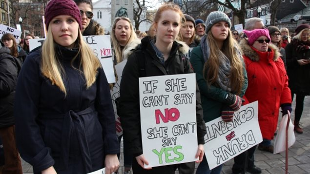 Protests have drawn attention to sexual assault cases that have gone before the courts.