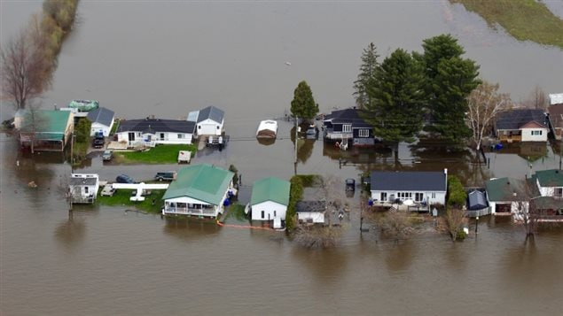 Homes flooded in Gatineau Quebec. Most people asy they've never seen this level of flooding.