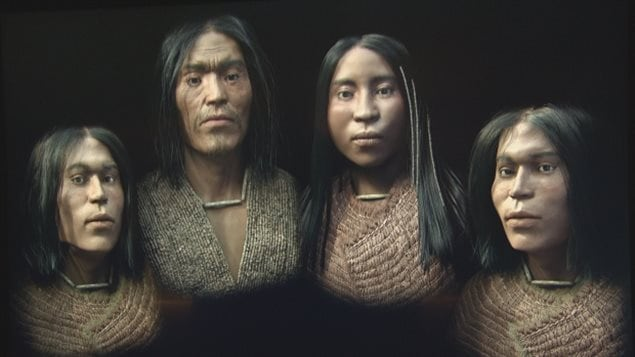 The reconstruction was created from the remains of members of a wealthy aboriginal family from the west coast of Canada.