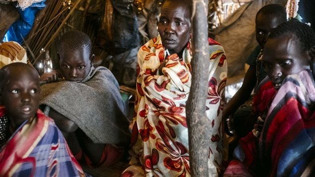 Aid groups have slammed a 'man-made' famine caused by ongoing fighting in South Sudan where civil war has forced people to flee, disrupted agriculture, sent prices soaring, and seen aid agencies blocked from accessing some of the worst-hit areas.