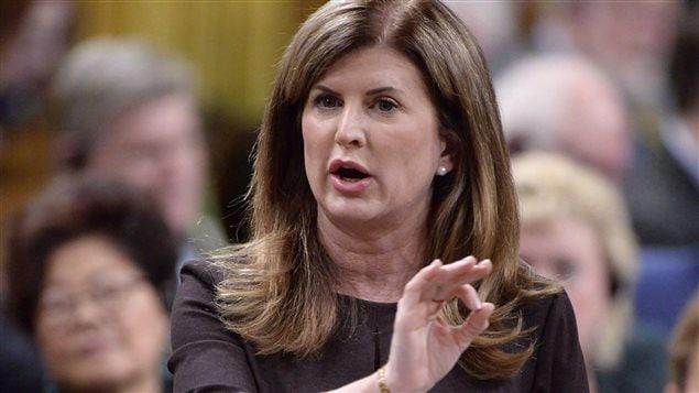 Rona Ambrose, jefa interina del Partido Conservador de Canadá.