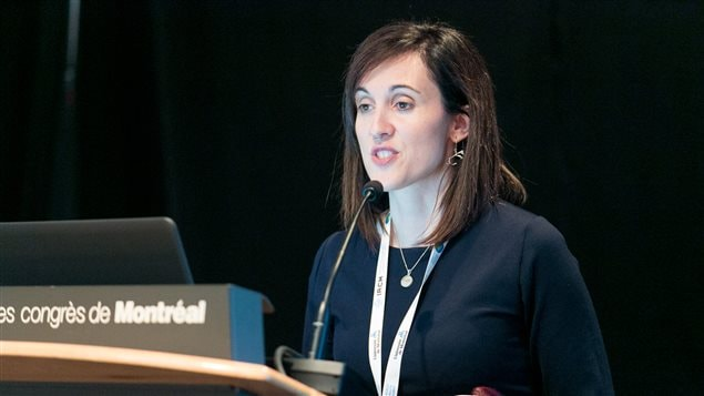 Ashlee Cunsolo, director of the Labrador Institute of Memorial University, presented her research at the World Health Summit in Montreal on May 9, 2017.