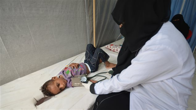 A nurse attends to a boy infected with cholera at a hospital in the Red Sea port city of Hodeidah, Yemen May 14, 2017.