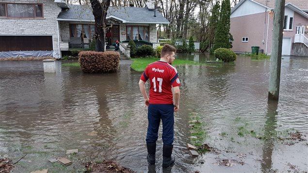 La inundación en Pierrefonds.