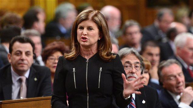 La chef intérimaire du Parti conservateur du Canada Rona Ambrose à la Chambre des communes.