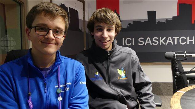 Simon Lafontaine et Adrien Bouhtiauy