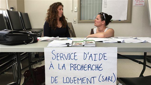 Deux intervenantes du Service d'aide à la recherche de logement