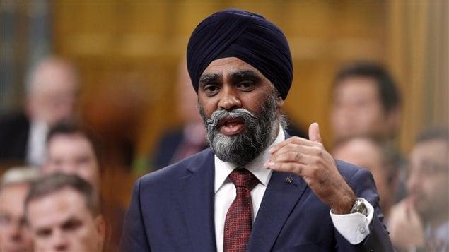Harjit Sajjan, ministro de Defensa de Canadá.
