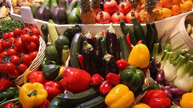 Des fruits et légumes colorés