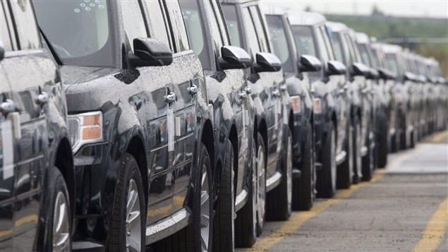 Des véhicules Ford Flex à l'usine d'Oakville.