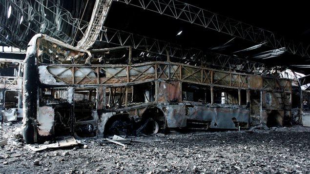 También hubo vehículos destruidos, como en San Cristobal.