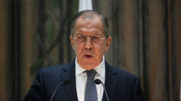 Russian Foreign Minister Sergei Lavrov speaks during a news conference at the Ministry of Foreign Affairs in Nicosia, Cyprus May 18, 2017.