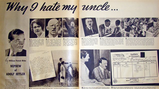 Two months before the outbreak of World War II, an American magazine called Look published an article titled 'Why I Hate My Uncle, By Adolph Hitler's Nephew.' A copy of this scarce issue was listed for sale on AbeBooks.com – an online marketplace for books and collectibles – priced $950.