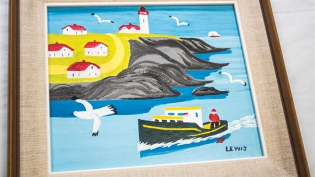 This now celebrated fold artist Maud Lewis painting was discovered by volunteers at the Mennonite Central Committee Thrift Centre in New Hamburg, Ont. The painting was auctioned off to support the MCC.