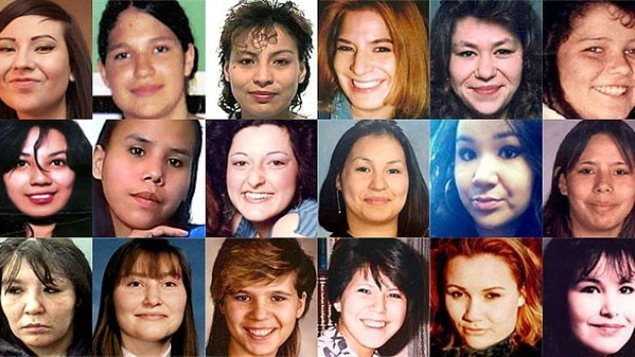Des femmes autochtones assassinées ou disparues.Photo Credit: CBC