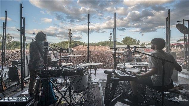 El grupo Half Moon Run en el Festival de música Osheaga