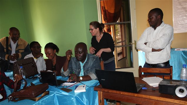 Canadian journalist Michèle Ouimet spent a month training journalists and students in the Democratic Republic of Congo.