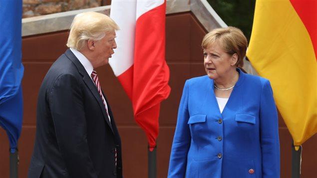 مواجهات متوقعة بين المستشارة الألمانية أنجيلا ميركيل والرئيس الأميركي دونالد ترامب حول المناخ ومؤتمر باريس