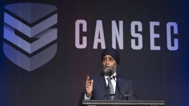 Minister of National Defence Minister Harjit Sajjan speaks at the Canadian Association of Defence and Security conference in Ottawa, Wednesday May 31, 2017.
