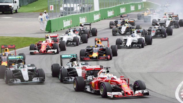 The start of the Canadian Grand Prix in 2016