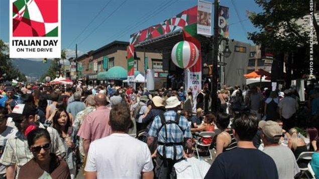 La communauté italienne célèbre.