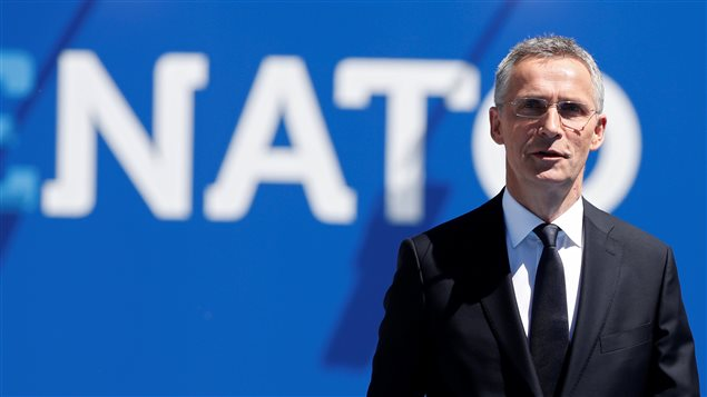 NATO Secretary General Jens Stoltenberg poses ahead of the start of NATO summit at their new headquarters in Brussels, Belgium, May 25, 2017.