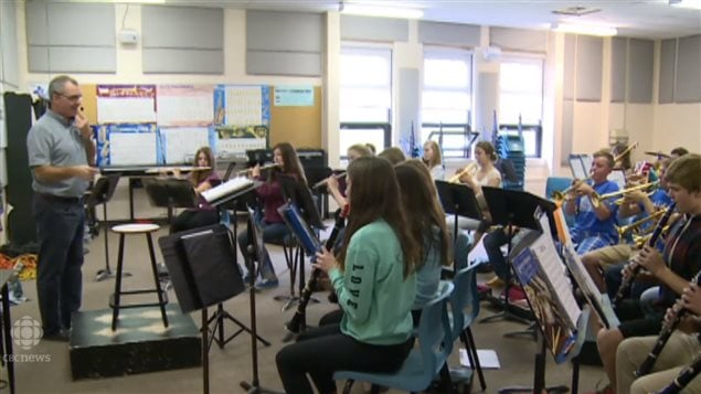 In some schools, the fruits of fundraising efforts are used to buy musical instruments.