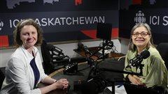Annie Belair de la Fédération canadienne de la faune en studio avec Doris Labrie