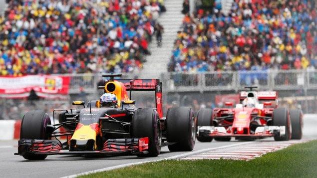 Daniel Ricciardo et Sebastian Vettel in the 2016 Canadian Grand Prix