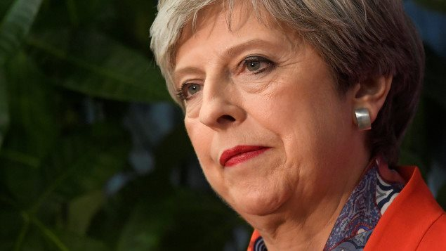 La première ministre de la Grande-Bretagne, Theresa May