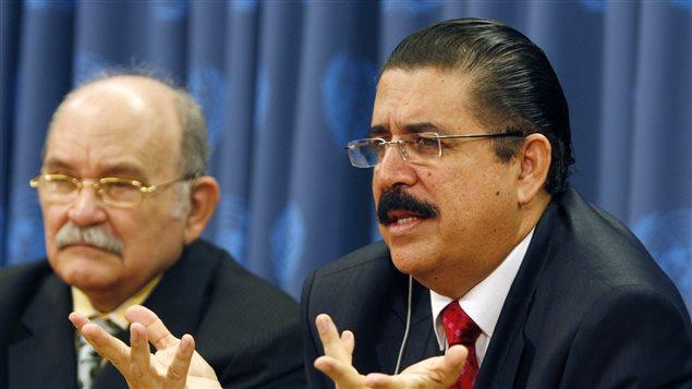 Desde Naciones Unidas brindó todo su apoyo al removido presidente hondureño Manuel Zelaya.