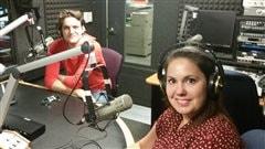 Dans nos studios de Saskatoon Myriam Leblanc et Jean-Michle Richer