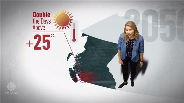 到2050年BC省高温的日子几乎会加倍