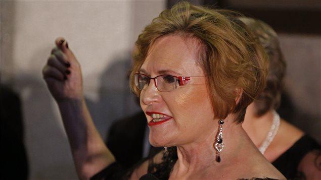 Helen Zille, ex jefa de la Alianza Democrática, DA, principal partido de oposición en Sudáfrica.