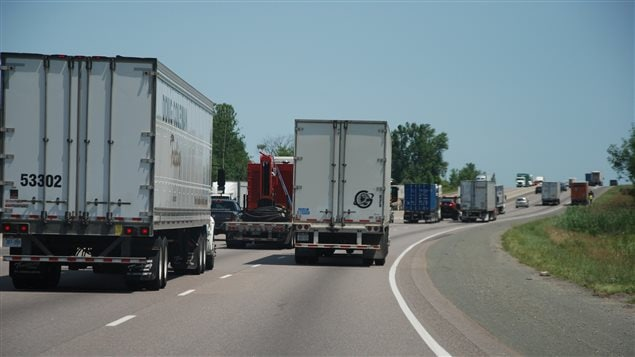 The movement of goods accounts for 10.5 per cent of Canada's emissions, most of them from heavy trucks.