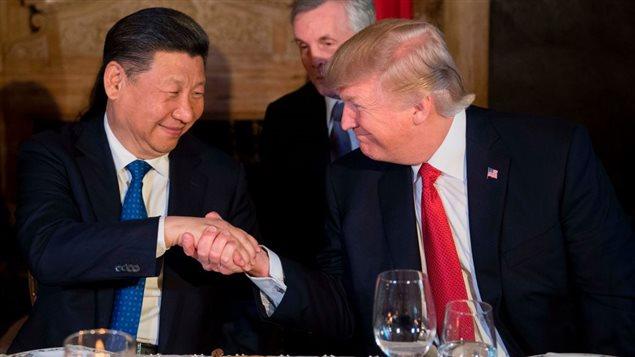 El presidente chino Xi Jinping y su homólogo estadounidense, Donald Trump.