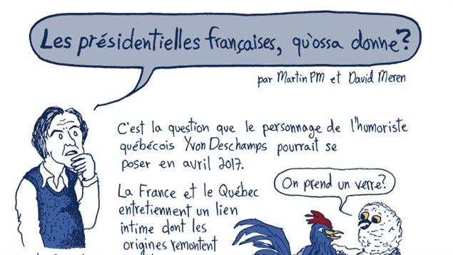 Bande dessinée « Les présidentielles françaises, qu'ossa donne ? », par Martin PM et David Meren