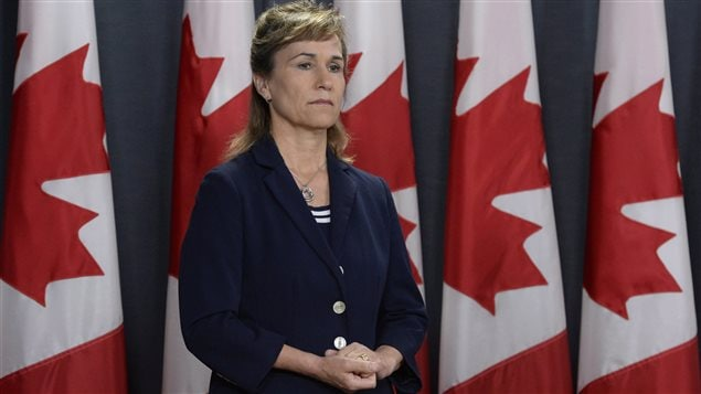 Chief of the Communications Security Establishment Greta Bossenmaier listens to a question during a news conference to discuss an assessment of cyber threats to Canada's democratic process in Ottawa, Friday June 16, 2017.