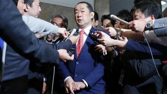 Le ministre de la justice du Japon, Katsutoshi Kaneda, à Tokyo, le 15 juin.