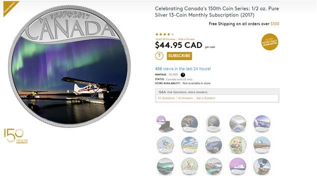 加拿大建国150周年的纪念银币