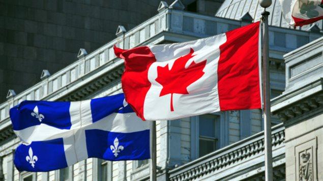 Drapeau du Québec et du Canada à  Montréal (Photo: Getty)