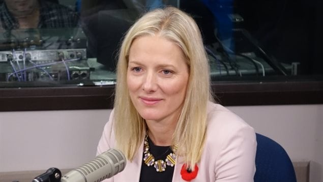 Catherine McKenna, minister of environment and climate change,