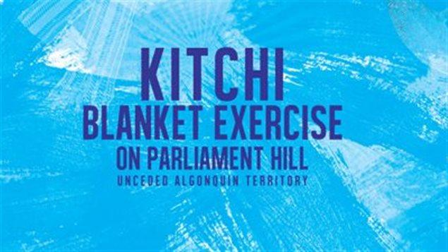 Anuncio del ejercicio de las mantas en Ottawa.