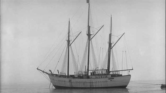 The Maud (named after Norway's Queen Maud) in better days in 1918