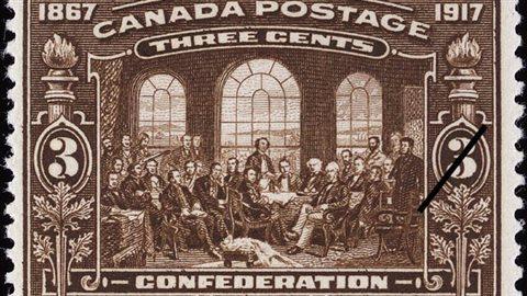 Un timbre presque centenaire qui soulignait en 1917 le 40e anniversaire du Canada.
