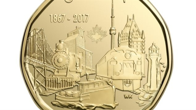 St Catharine's resident Wesley Klassen's design, won a contest Canada's 150th anniversay :loonie* It inspired by the *iconic engineering achievements which dominate our landscape* that are connected by the railway.