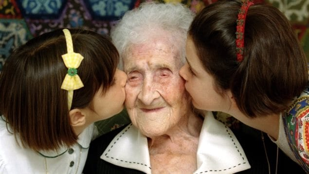 Jeanne Calment, pictured in 1995 when she was 120 years old, holds the Guinness World Record for living the longest. She died in 1997 at age 122. A study last year said there was a biological limit of about 115 years for humans, a new study says it's probably older.