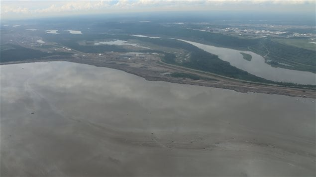 The tailings ponds in western Canada are said to make up an area the size of the cities of Toronto and Vancouver.