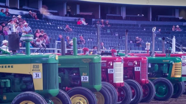 Farming and tractors go hand-in-hand. One of the many dozens of western-themed events is the vintage tractor pull. There are also heavy horse pulls, blacksmith and sheep shearing competitions, and much more