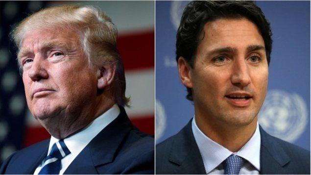 Donald Trump et Justin TrudeauPhoto Credit: Reuters/Carlo Allegri/Andrew Kelly